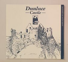 Dunluce Castle - Ireland Souvenir Travel Guide Book Leaflet - Blue & White
