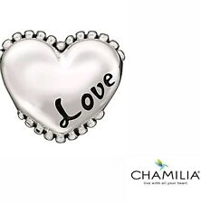 Genuine Chamilia sterling silver 925 Love heart bracelet charm bead 2010-3087