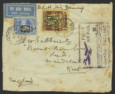 GAMBIA - 1934 Airmail cover to England - carriage vai Germany front only