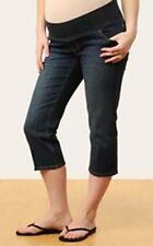 ALMOST MUM MATERNITY 3/4 JEANS OVER BELLY ADJUST WAIST