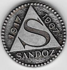 sandoz pharmaceutical co 1917 .1967 mega rare 50 anniv not pin pin's medaille