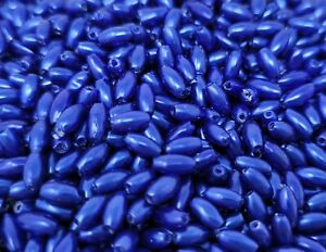 1,000 pcs Blue Pearl Loose Plastic Pearls 3mm x 6mm Oval Rice Craft Beads