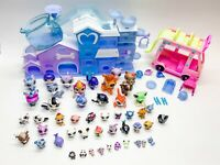 Littlest Pet Shop Lot Of 48 With House Bus And Accessories Whale Monkey Frog Cat