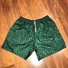 NEW Erima Dark Green CHECKERED Mens XL Soccer Nylon SHINY Hot sexy vtg shorts XL
