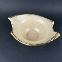 Vintage MCM Planter Dish Bowl Cream and Gold Speckled Marked
