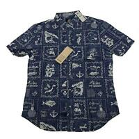 Reyn Spooner Mens Hawaiian Shirt Size M Stories From East Tailored Fit New