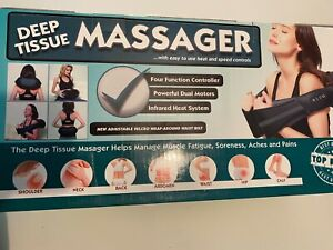 New Shiatsu Deep Tissue Neck Massager Heated Muscle Relief Shoulder Back Travel