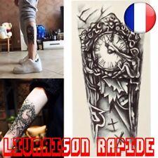 Tatouage Temporaire Imperméable Eau Autocollant Tattoo Homme Femme Horloge Faux