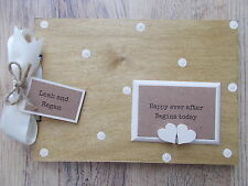 PERSONALISED NEW MARRIAGE GIFT WOODEN SCRAPBOOK/PHOTO BOOK /MEMORIES