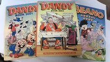 3x The Dandy/Beano Annuals - 2001,2002,2005 Hardback Books