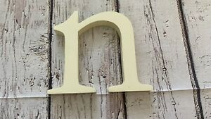 """Pottery Barn Kids Small Wooden Wall Letter, Simply White """"n"""""""