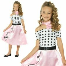 50's Pudel Mädchen Kostüm Tanzende Outfit 1950s Bopper Kostüm Kinder Alter 4-12