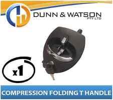 Black Compression Folding T Lock / Handle (Trailer Caravan, Toolbox) Drop T x1