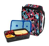 Fit & Fresh Bento Lunch Set Expandable Bag BPA Free Leak Resistant Ice Packs
