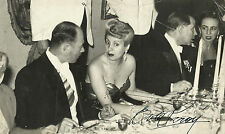 """EVA PERON  AUTOGRAPH """"Talking to a Friend During Dinner"""" HANDSIGNED Photo 1940's"""