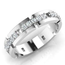 White Gold Engagement Band Size 11 0.33 Ct Natural Diamond Mens Ring 14K
