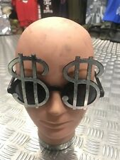 Novelty Party Dollar Sunglasses Bundle Gold Silver X10 Halloween Fancy Dress