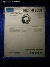 Sony Service Manual MDR IF8000 Cordless Headphones  (#6275)