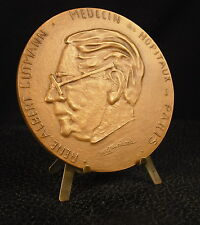 Medalla 86mm Médico René Albert Gutmann Infierno Dante por Eauricoste Medal 铜牌