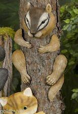 "Cute 14"" Chipmunk Tree Hugger Garden Art"