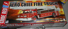 AMT AERO CHIEF LADDER FIRE TRUCK Model Car Mountain KIT AMERICAN LaFRANCE 1/25 S