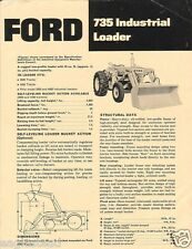 Equipment Brochure - Ford - 735 - Industrial Loader - c1960's (E1163)