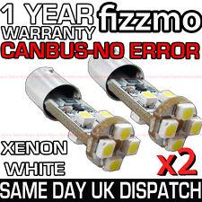 2x 8 Smd Led 233 Ba9s T4w Bayoneta Canbus Error Free Xenon lado blanco bombilla de luz