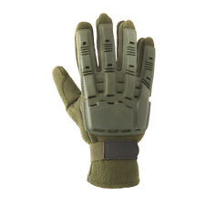 New Valken Paintball Airsoft Full Finger Plastic Gloves - Olive X-Large Xl