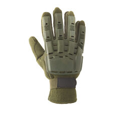 New Valken Paintball Airsoft Full Finger Plastic Gloves Protective Olive Medium