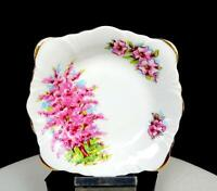 "CAMBRIDGE CHINA ENGLAND PINK MIST SQUARE 4 3/4"" CANDY / NUT DISH"