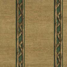 Bamboo Look Stripe Wallpaper - Green  8064229