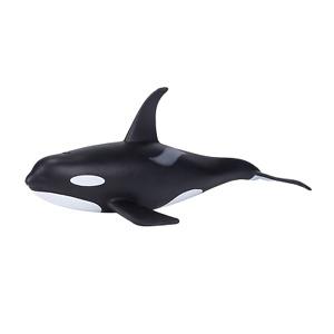 Mojo MALE KILLER WHALE ORCA plastic animal sea toy figure model fish bath marine
