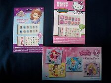 Hello Kitty Sofia The First Decorative Nail Art Plus Disney Princess Puzzle Pack