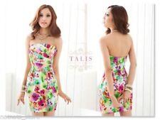 Cotton Blend Floral Strapless Dresses for Women