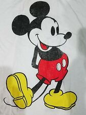 Disney Large Graphic Classic Mickey Mouse White T Shirt Men Size XL