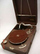 Working antique Thorens portable suitcase gramophone- Complete