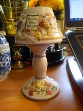 Laurie Korsgaden Watercolors Spring Blossom Candle Holder Fairy Lamp Garden Love