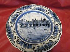 DELFT'S BLUE HAND PAINTED  MADE IN HOLLAND  DECORATIVE COLLECTORS PLATE