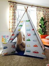Go Go Retro Themed fabric -Beautiful WIGWAM TEEPEE, PLAY TENT+mat +wooden polles