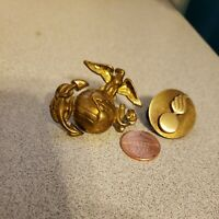 U.S MARINE CORPS LAPEL HAT PIN USMC EAGLE GLOBE & ANCHOR + FIRE BOMB LAPEL PIN