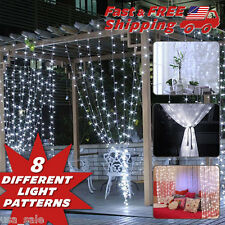Curtain Light White LED 9.8'X9.8' Cold Light Easy Backdrop Wedding Kids Bedroom