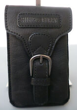 Gürteltasche Hüfttasche Vintage Bikertasche Smartphone Outdoor Leder schwarz NEU