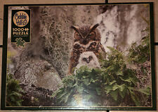 COBBLE HILL 1000 piece Puzzle - GREAT  HORNED OWL - SEALED 80246