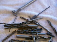 2 Pounds of Drill Bits and assorted drill and boring tools priced to sell !!