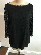 BODEN black lace top, party top size 14