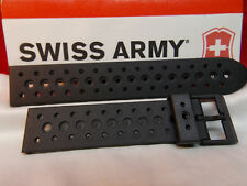 Swiss Army Watch Band Renegade Black Rubber Sport Band Mns 19mm Swiss Made Strap