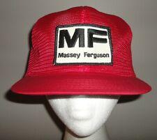 Vintage MASSEY FERGUSON Red K-PRODUCTS K-BRAND Snapback Patch Mesh Trucker Hat