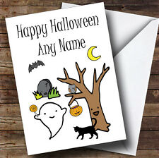 Ghostly Characters Personalised Halloween Card