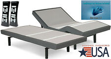 "Split King Adjustable Scape Leggett & Platt w/Dynasty 12"" Luxury GEL Mattress"