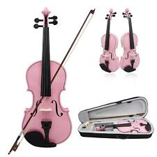 4/4 Violin Fiddle Basswood Steel String Arbor Bow for Music Lovers Pink Z5S6